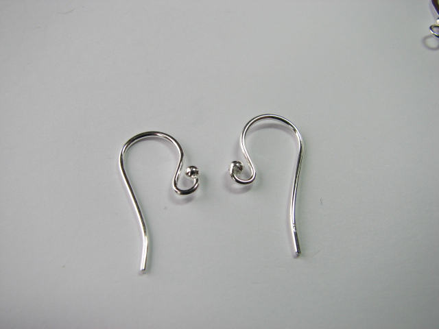 18 S. S. Ear Wire with 2mm Ball