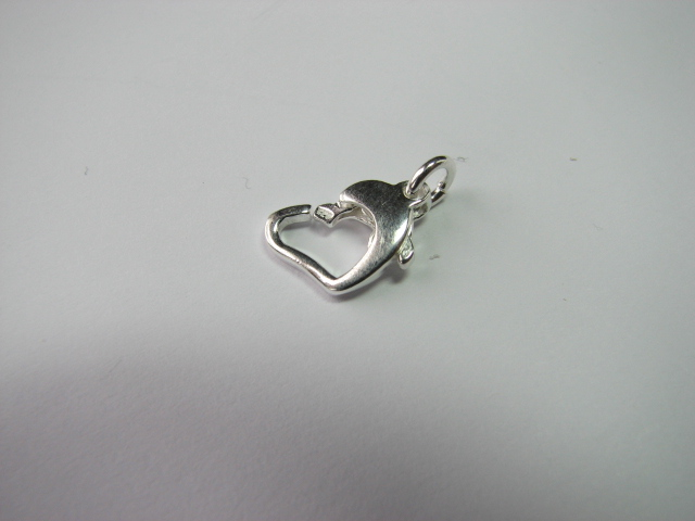 3 S. S. Heart Shape Lobster with open jump ring