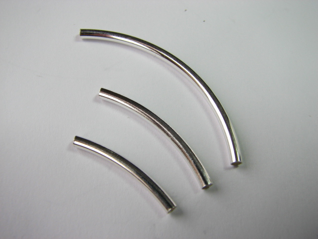 14 S. S. Curved Tube Plain 2 x 20mm