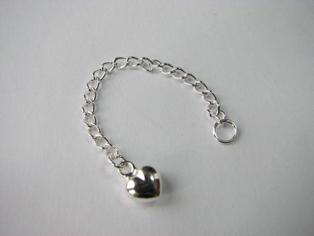 11 S. S. Extender Chain with Puffed Heart