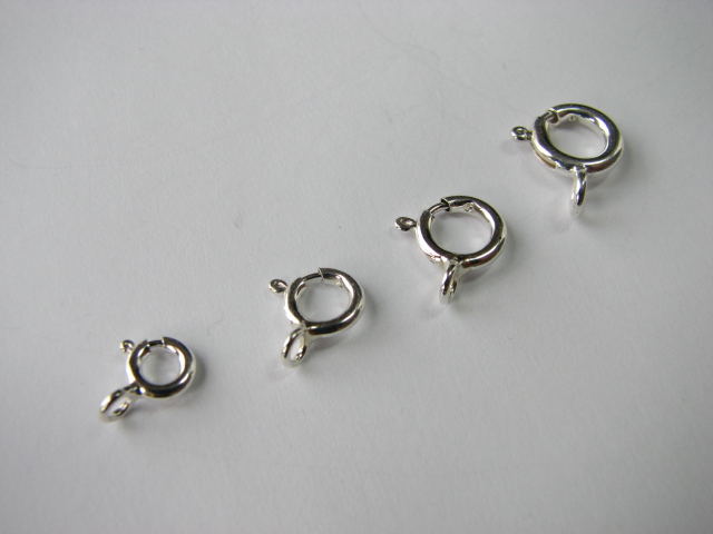 1 S. S. Spring Ring Clasp 5mm Close Ring