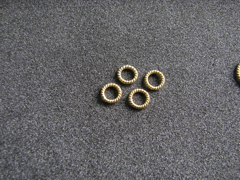 Vermeil Bead 042 Twisted Wire Ring