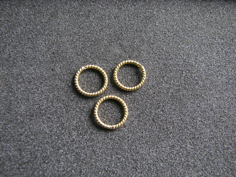Vermeil Bead 043 Twisted Wire Ring