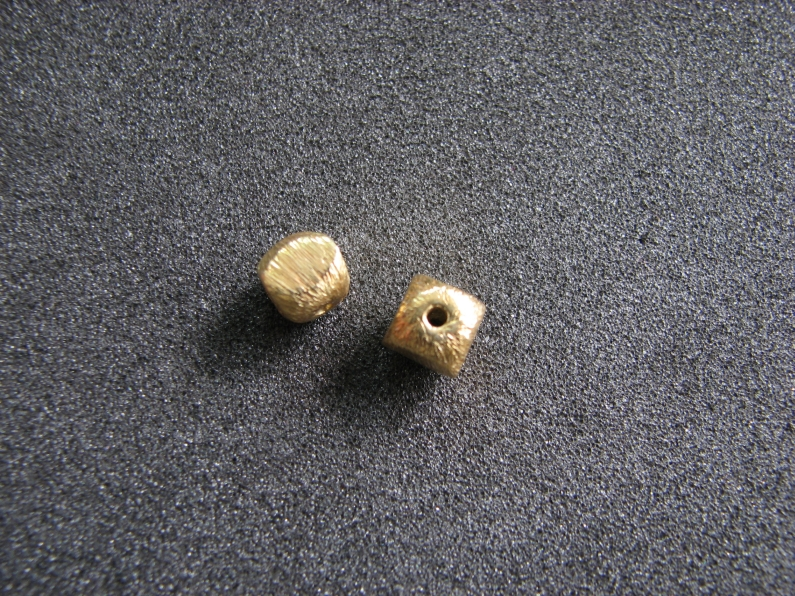 Vermeil Bead 011 Brush Finished Bead