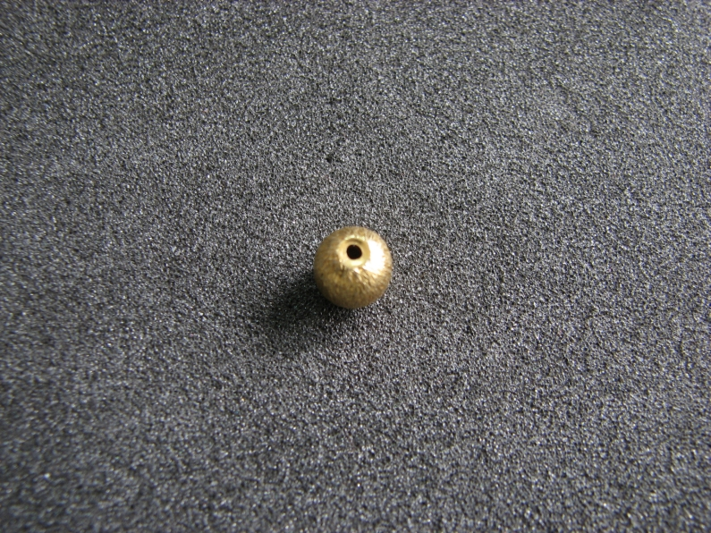 Vermeil Bead 012 Brush Finished Bead