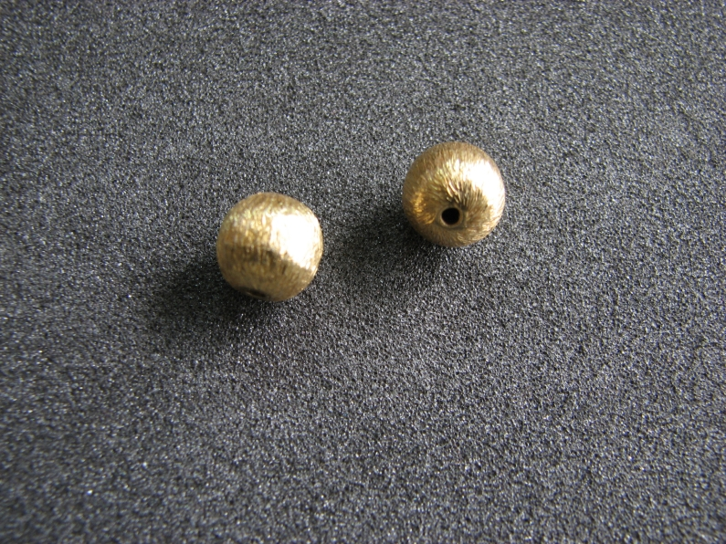 Vermeil Bead 013 Brush Finished Bead
