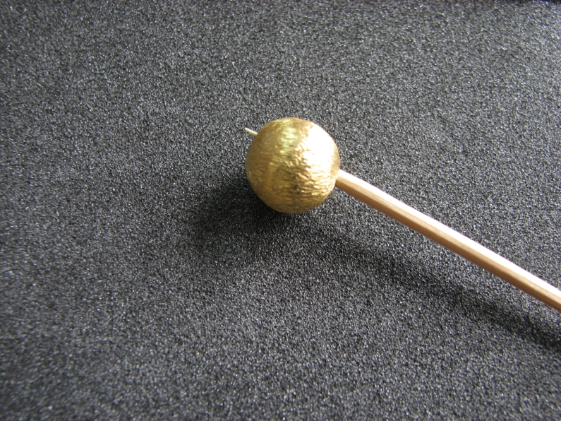 Vermeil Bead 014 Brush Finished Bead