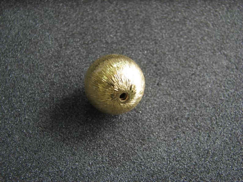 Vermeil Bead 015 Brush Finished Bead