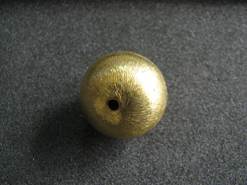 Vermeil Bead 017 Brush Finished Bead