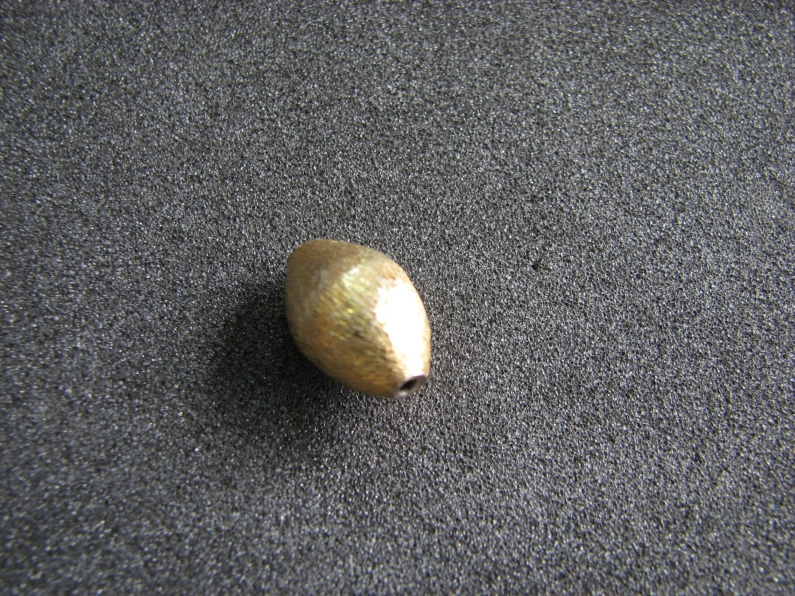 Vermeil Bead 020 Brush Finished Bead