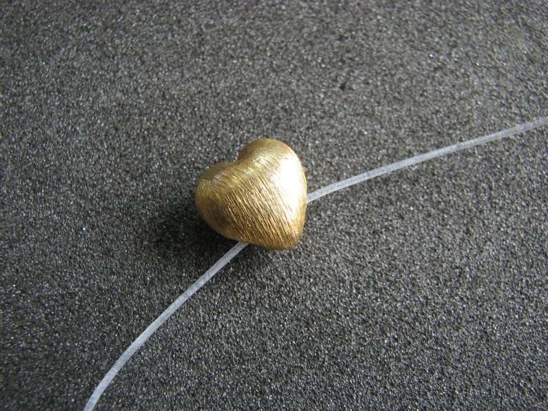 Vermeil Bead 022 Brush Finished Bead